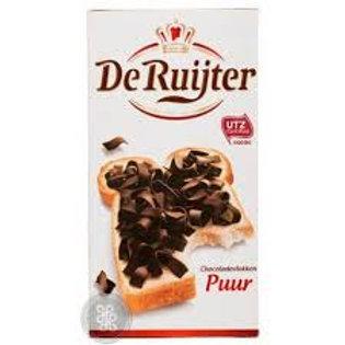 DeRuijter Chocolate Flakes - Puur - 300g