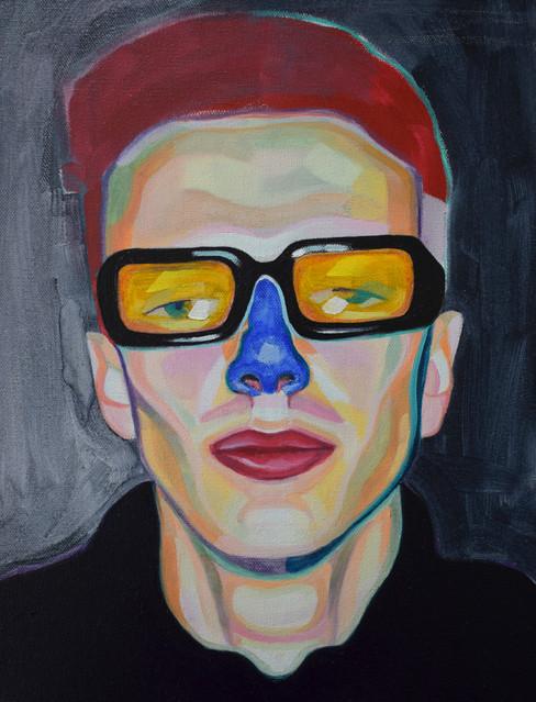Blue nose portrait