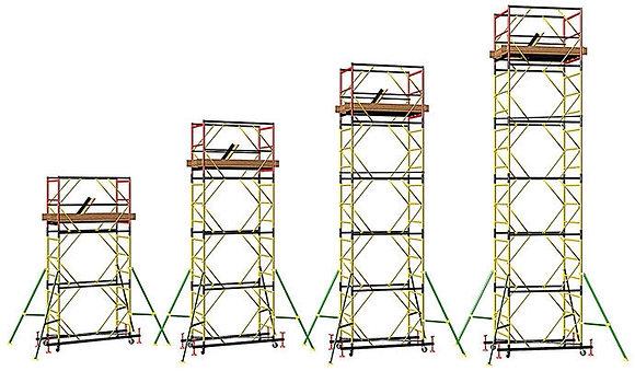Вышка-тура ПСРВ-21 - 9,9 (7 секции + базовый блок)