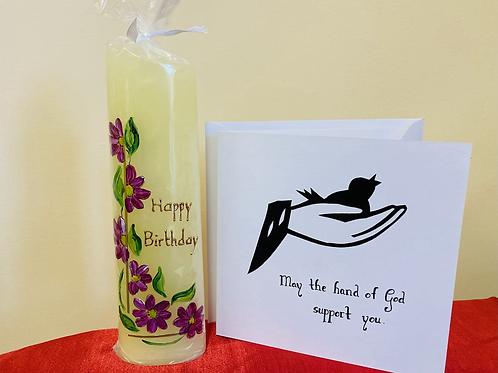 Birthday Candle & card set