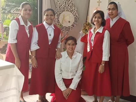 Joan's Acceptance to Postulancy - Cebu