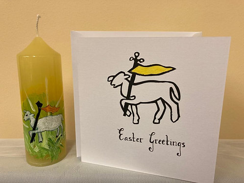Easter Card and Candle Set