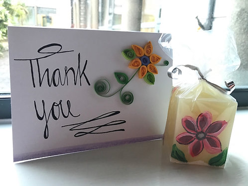Thank You Card and Candle Set