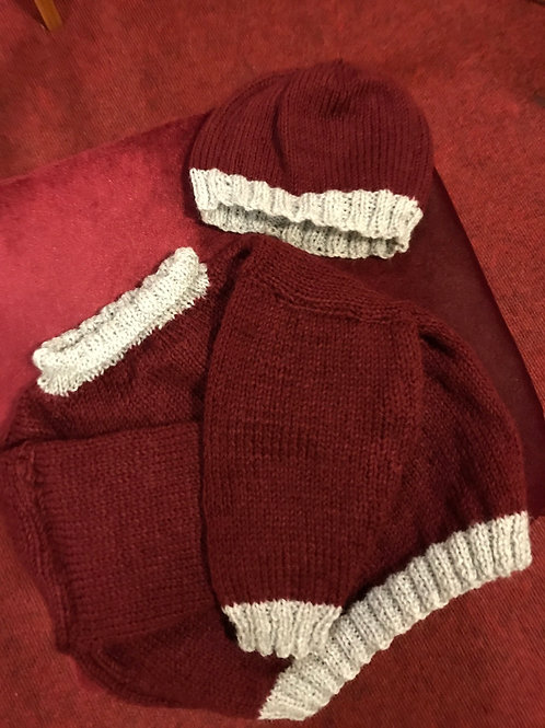 Baby Hat and jumper set