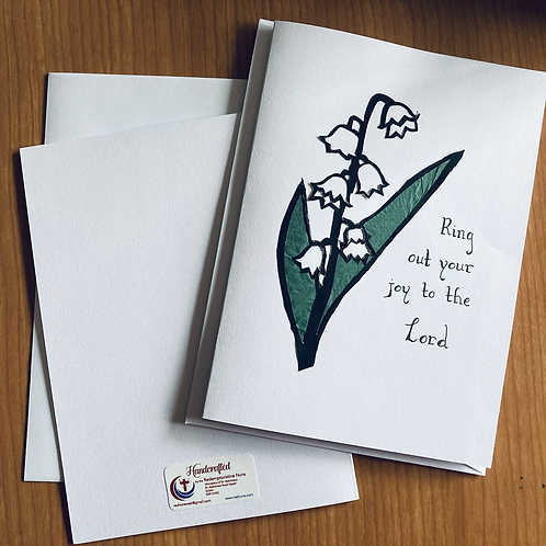 2 Lily flower of the month card set
