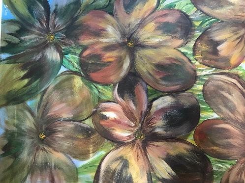 Flowers on Canvas (acrylic)