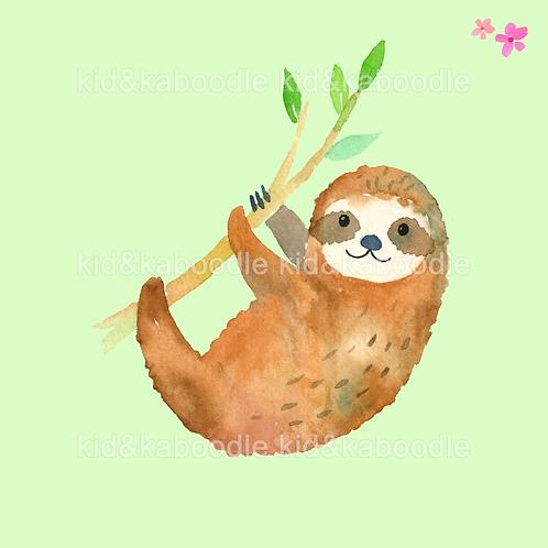 Smiley Sloth Print (PHYSICAL)