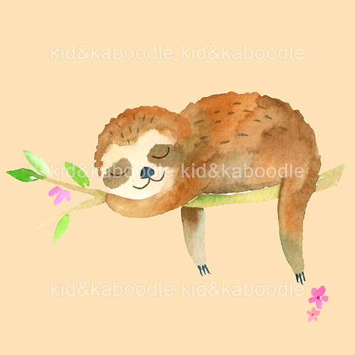 Cecil Sloth Print (PHYSICAL)