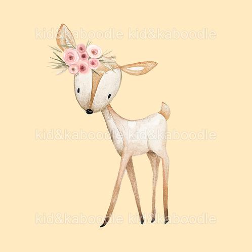 Pink Deer Print (PHYSICAL)
