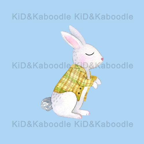 Rushing Rabbit Print (DIGITAL)