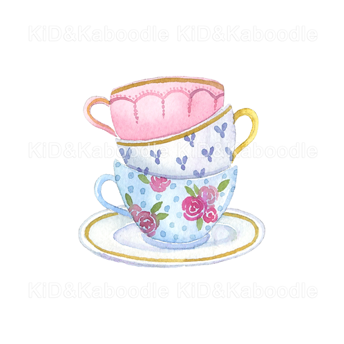 Tea Party Cups Print (DIGITAL)