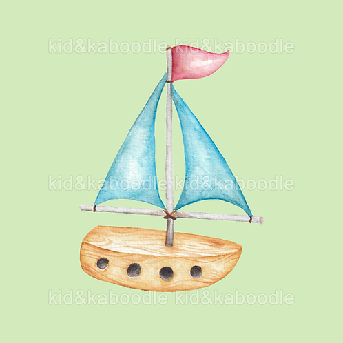 Toy Boat Print (PHYSICAL)