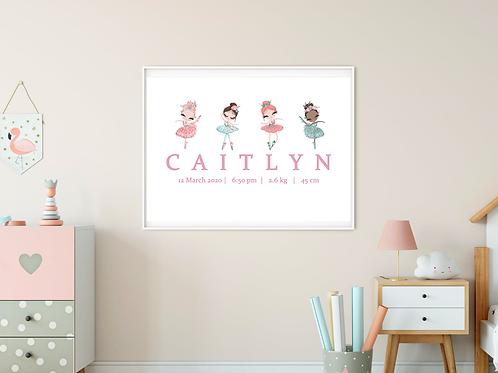 Personalised Ballerina Print (DIGITAL)