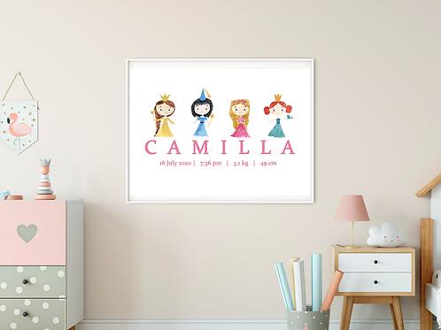 Personalised Princesses Print (PHYSICAL)