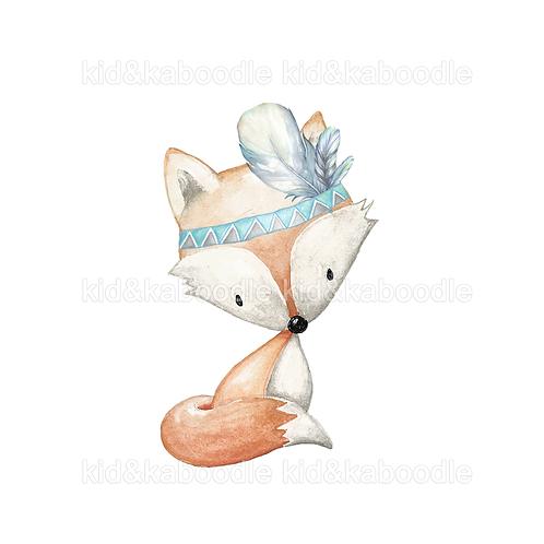 Blue Fox Print (PHYSICAL)