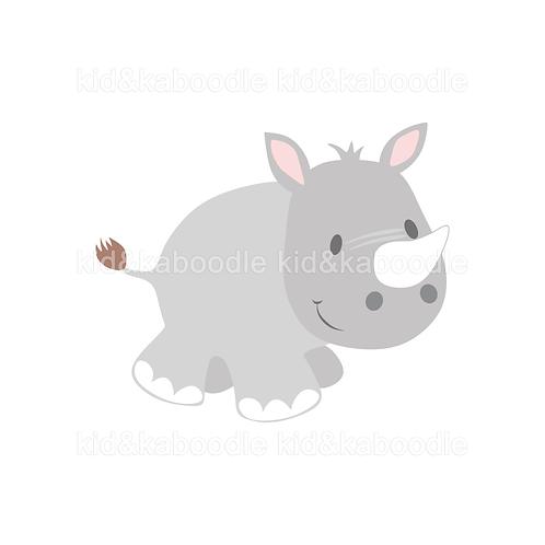 Ronny the Rhino Print (DIGITAL)