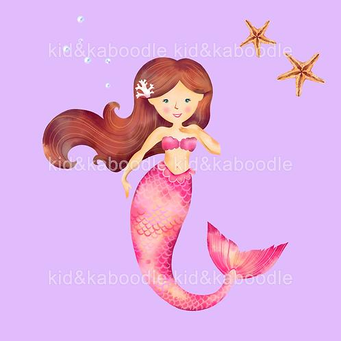 Ruby the Mermaid Print