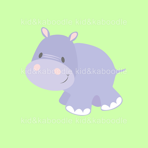 Holly the Hippo Print (DIGITAL)