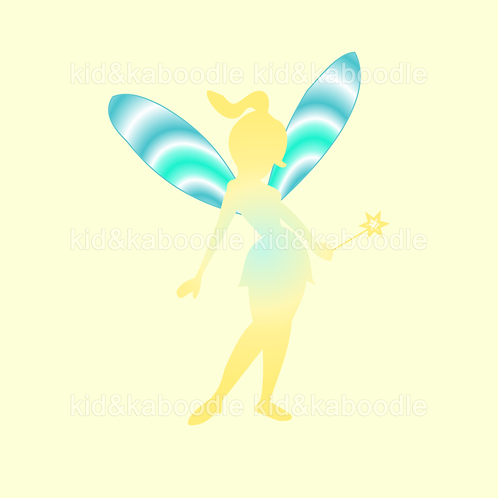 Buttercup Silhoutte Fairy Print (PHYSICAL)