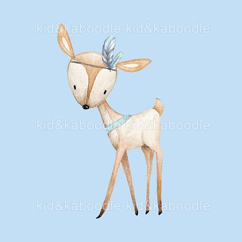 Blue Deer Print (PHYSICAL)