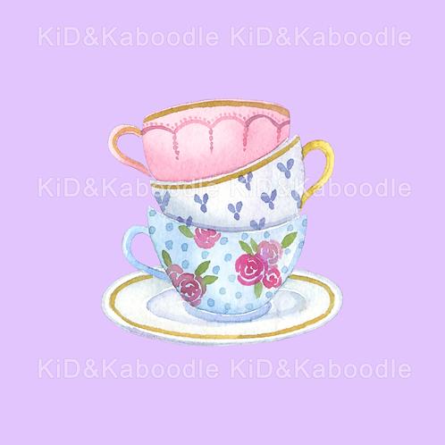 Tea Party Cups Print