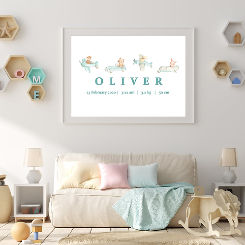 Personalised Animals On The Go Print (DIGITAL)