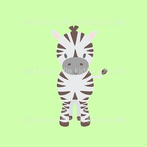 Zack the Zebra Print (DIGITAL)