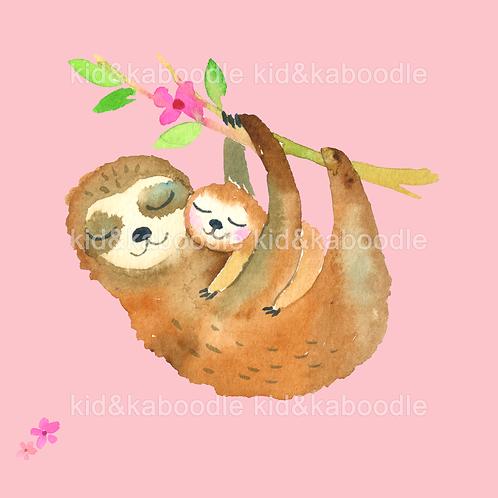 Sami & Suni Sloths Print (PHYSICAL)