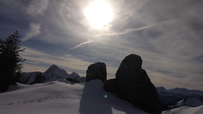 Schneeschuh Wandern im November