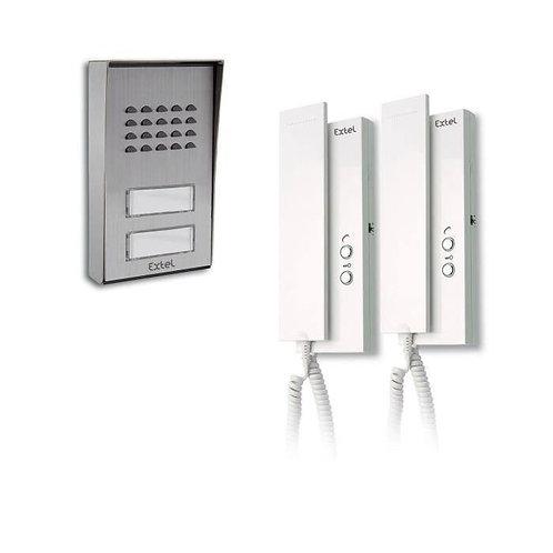 EXTEL Interphone collectif multi-habitations 2 à 4 logements 2 fils Multipro