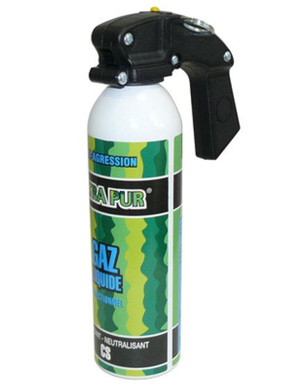 Aerosol gel paralysant cs 2% 300ml bombe gaz lacrymogène securite arme légitime