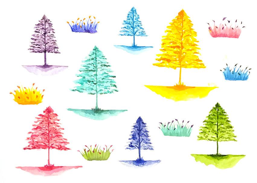 #165 Trees pattern