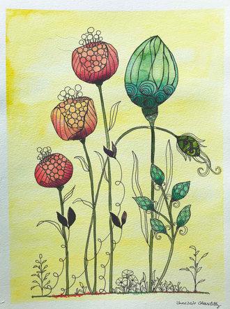 #166 4 Flowers