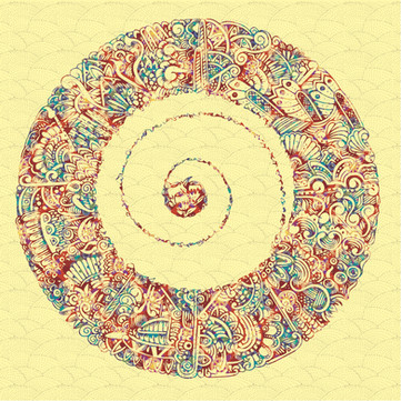 """""""Swirl Seed"""" Pen Drawing"""