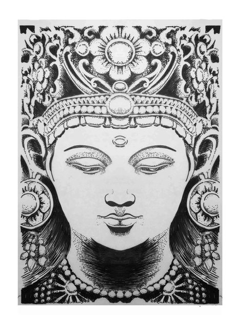 #175 buddha zentangle