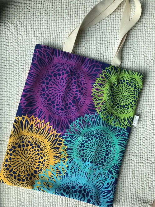Sunflowers colourful totebag