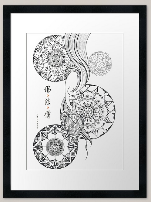 Buddhism from Dunhaung art print
