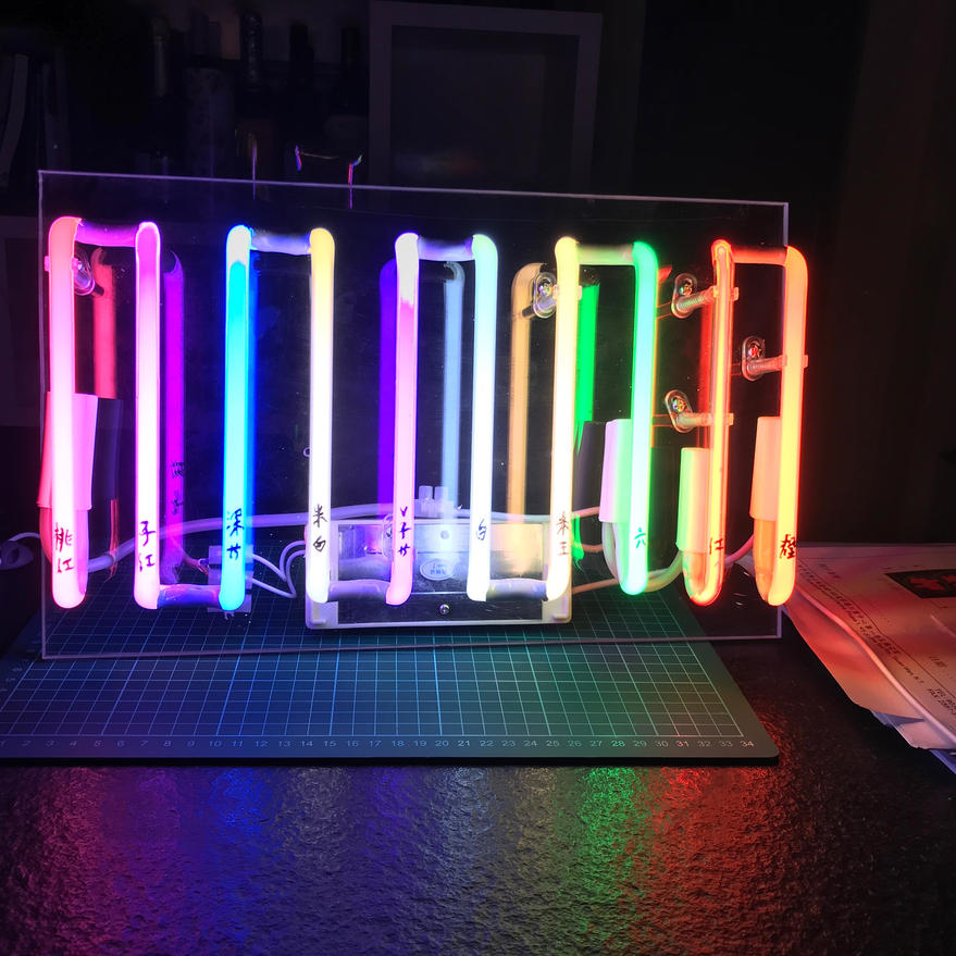 10 different colours neon sample