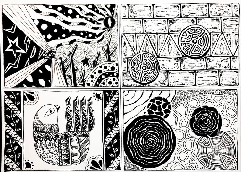 #141 4x drawings