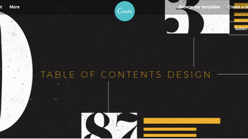 "Great ""Table of Contents"" Design"