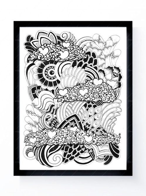 """""""Imagination with Love"""" Art Print (limited edition)"""