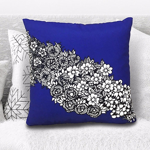 """Osaka Flowers"" Cushion"