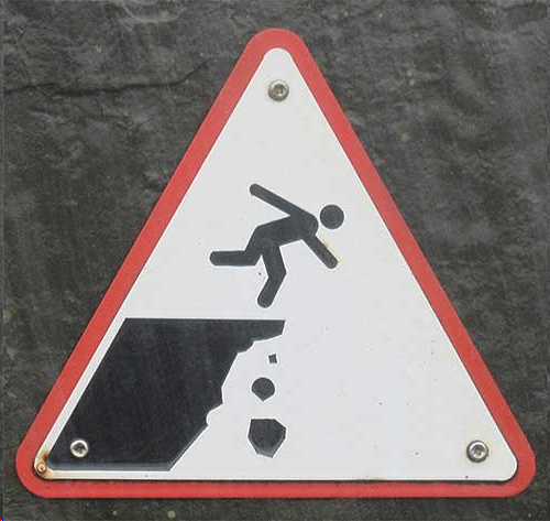 Warning: Watch your step!
