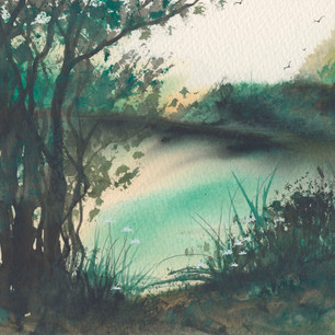 Riverbank by YvyB