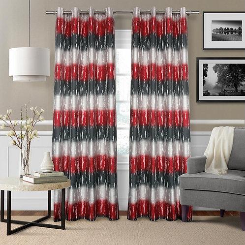 Olivia Maite Striped Room Darkening Grommet Liner