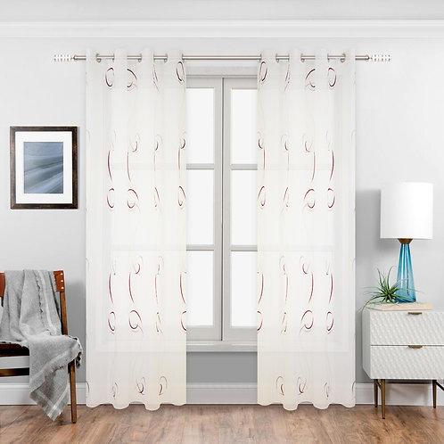 Victoria Jopling Semi-Sheer Grommet Curtain Panels
