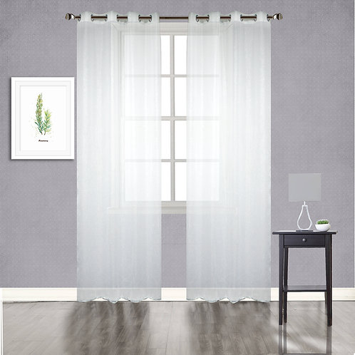 Galaxy Almaguer Woven Abstract Sheer Grommet Single Curtain Panel