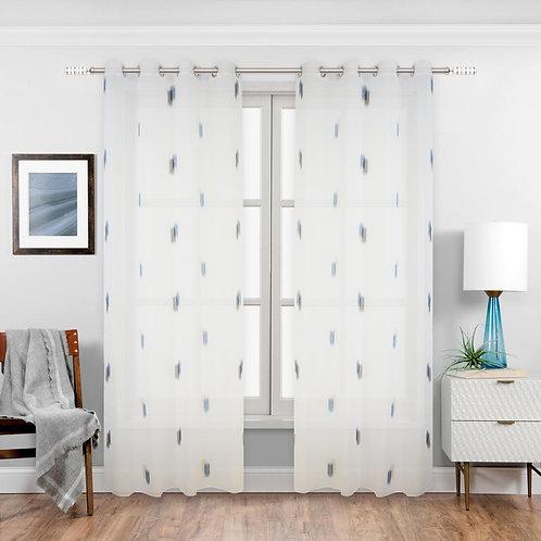 Neil Audie Semi-Sheer Grommet Single Curtain Panel