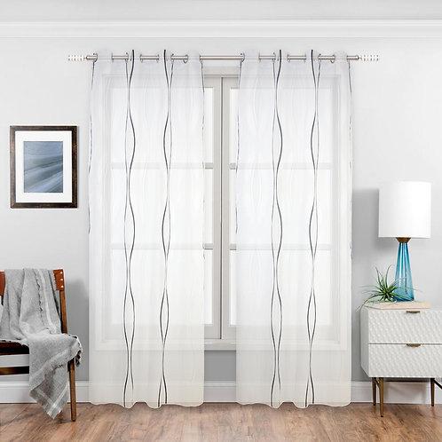 Maya Braunste Sheer Grommet Single Curtain Panel