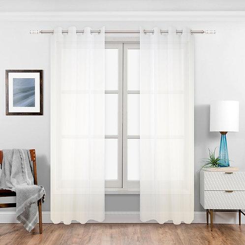 Lance Pure Wave Sheer Grommet Single Curtain Panel